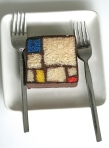 Mondrian Ganache cake