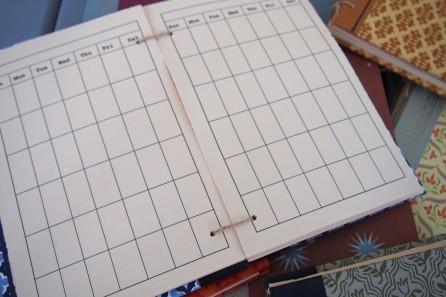 an unscribbled calendar